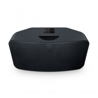 Enceinte Active Connectée Bluesound PULSEMINI2i streaming haute qualité qobuz HD tidal MQA deezer multizone multiroom multi-sources noir blanc