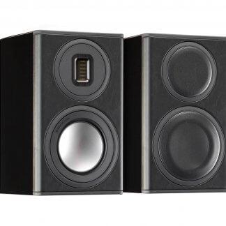 Enceintes Monitor Audio PLATINUM 100 II PL100 bibliotheque tweeter woofer haut de gamme event bass reflex arriere ebene vernis noir laque