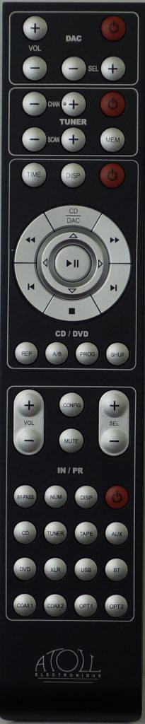 Télécommande Atoll globale amplificateur lecteur cd dac in50 in80 in100 in200 cd50 cd80 cd100 cd200 dr100 dr200 dac200 dac100 dac300