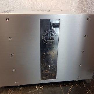 Ampli Accustic Arts AMP2Mk2 amplificateur de puissance double mono classe a ab 700 watts hi end silver aluminium entrees symetriques
