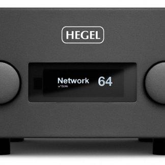 Ampli Stéréo HEGEL H590 amplificateur intégré dac convertisseur dac lecteur reseau dlna noir blanc design norvege entree configurable bypass