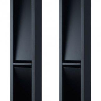 Pieds d'enceintes JMR MAGIC STAND support baffle bibliotheque anti résonnant amortissant diffractant hauteur 75 cm noir satin