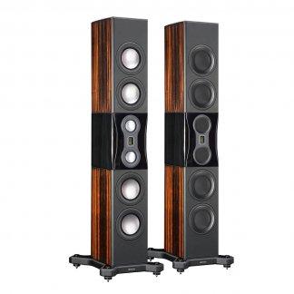 Enceintes MONITOR AUDIO PLATINUM PL500 II grande enceinte colonne baffle haut de gamme 400 watts hi end ebony black gloss ebene vernis noir laque stereo
