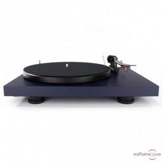 platine vinyle tourne disque pro ject debut evo vynile 2mred bras carbone bleu