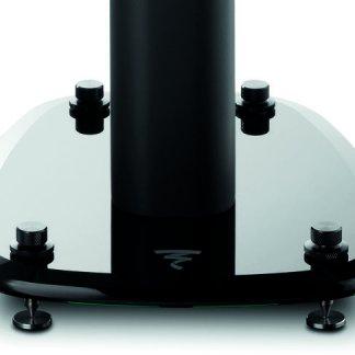 Pieds d'enceintes FOCAL SOPRA N°1 paire support stand noir anti vibration poids lourd base en verre trempé sur pointes hauteur 60 cm