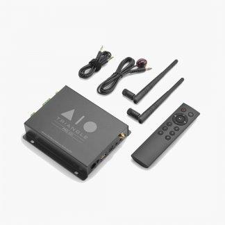 Streamer Ampli TRIANGLE AIO PRO A50 lecteur réseau wifi ethernet bluetooth airplay dlna qobuz tidal spotify intégration plafond mur