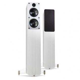 Enceintes Q ACOUSTICS CONCEPT 40 paire colonne deux voies trois hp noir laque blanc cabinet anti resonnant support trépied home cinema stéréo