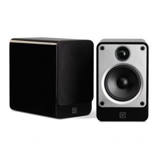 Enceintes Q Acoustics CONCEPT 20 bibliotheque performante musicale prix economique stereo home cinema noir laque blanc laqué pied optionnel