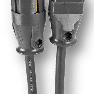 SUPRA LORAD 2,5 CS-EU SILVER cable blindé alimentation power cord brin conducteur plaqué argent prise schuko iec 10A blindage