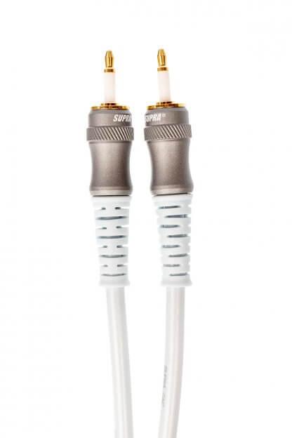 SUPRA ZAC MINI OPTICAL cable optique nylon plastique spécial faible perte 24/192 32/384kHz terminaisons fiche mini toslink 3.5mm mini jack