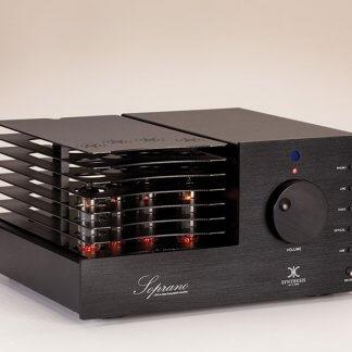 Ampli à Tubes SYNTHESIS SOPRANO amplificateur lampes classe A el84 montage ultra linéaire 2x 12 Watts DAC entrée digitale convertisseur d/a USB