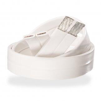 SUPRA FLAT 2x1.6mm2 cable hp haut-parleur enceinte ultra plat discret couleur blanc étamé étain cuivre ofc sans oxygène home cinema hifi stéréo home theatre