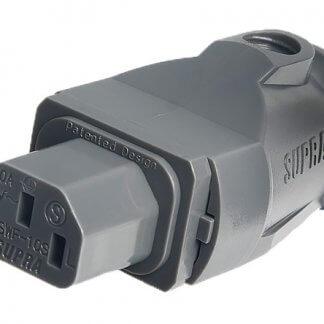 SUPRA MAINS PLUG SWF-10S prise iec 10 amperes IEC10A 3x2,5mm2 montage simple contact haute qualité or 24k solide couleur gris serie lorad