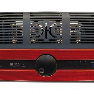 Ampli à Tubes SYNTHESIS ROMA 753AC amplificateur stereo lampes 2x50w el34 push pull face avant bois alu entrées analogiques
