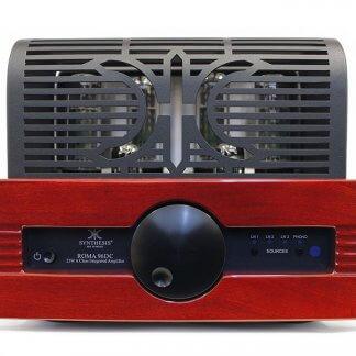 Ampli à Tubes SYNTHESIS ROMA 96DC push pull classe A lampes el34 12au7 ecc82 entrées analogiques phono mm mc finition bois alu noir silver