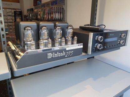McIntosh C220 + MC275 d'OCCASION ampli de puissance à tubes préamplificateur à tubes Mc Intosh KT88 télécommande entrée symétrique lampes neuves