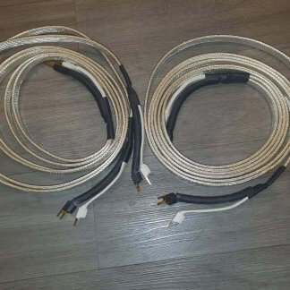 ANALYSIS PLUS BIG SILVER OVAL 2x2.42m: Câble d'occasion BI-WIRING ETAT IMPECCABLE - BI-CABLAGE FICHES BANANES COTE AMPLI FOURCHES COTE ENCEINTES